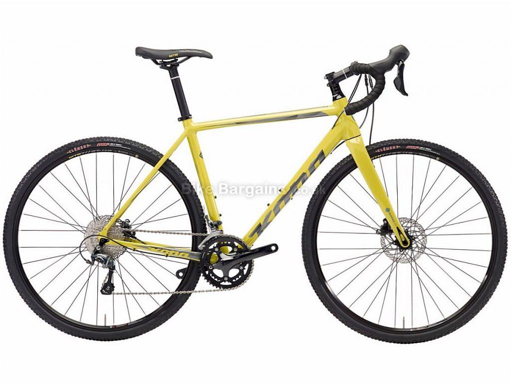 Kona Jake The Snake Disc Tiagra Alloy Cyclocross Bike 2018 52cm, Yellow, Alloy, 700c, 20 Speed