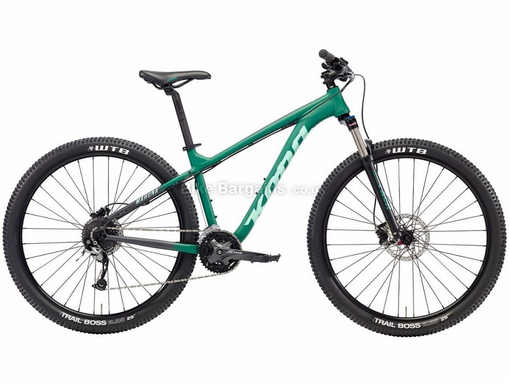 "Kona Mahuna 29"" Alivio Alloy Hardtail Mountain Bike 2018 S, Green, Alloy, 29"", 27 Speed"