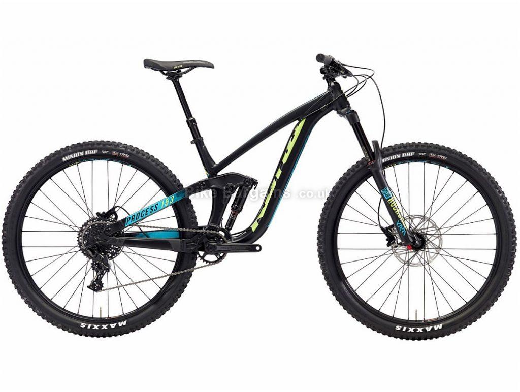 "Kona Process 153 AL 29"" NX Alloy Full Suspension Mountain Bike 2018 L, Black, Alloy, 29"", 11 Speed"