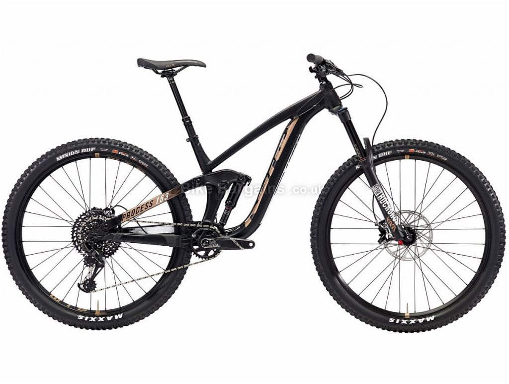 "Kona Process 153 AL/DL 29"" GX Eagle Alloy Full Suspension Mountain Bike 2018 M, Black, Alloy, 29"", 12 Speed"