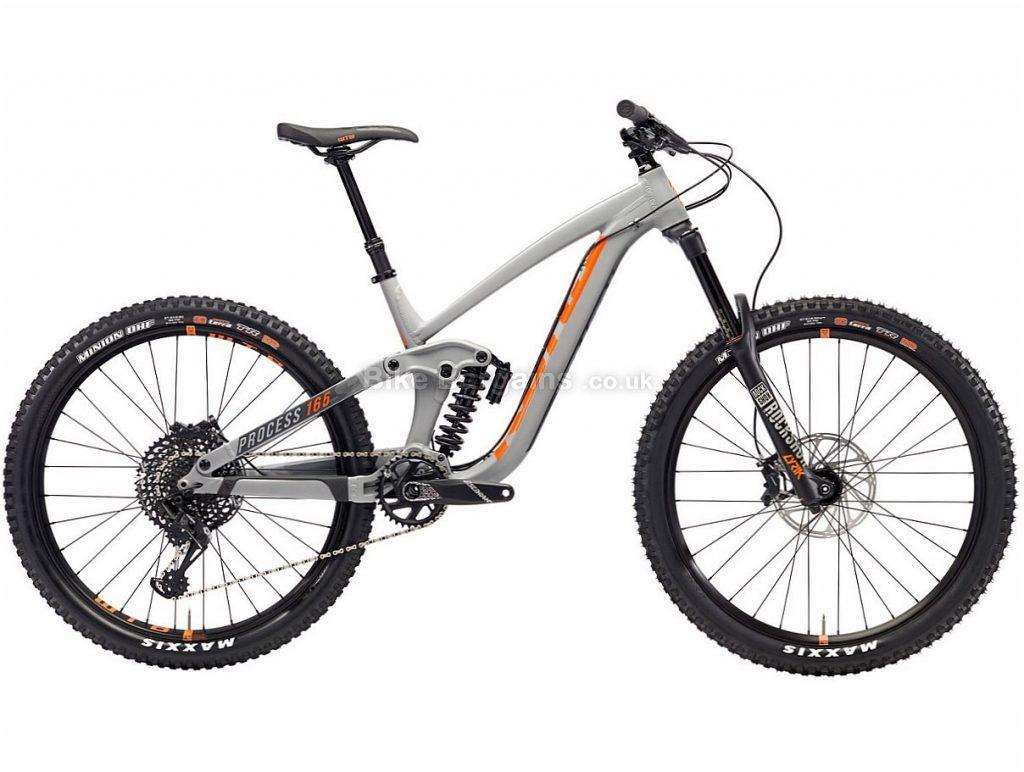 "Kona Process 165 27.5"" GX Eagle Alloy Full Suspension Mountain Bike 2018 S, Grey, Alloy, 27.5"", 12 Speed"
