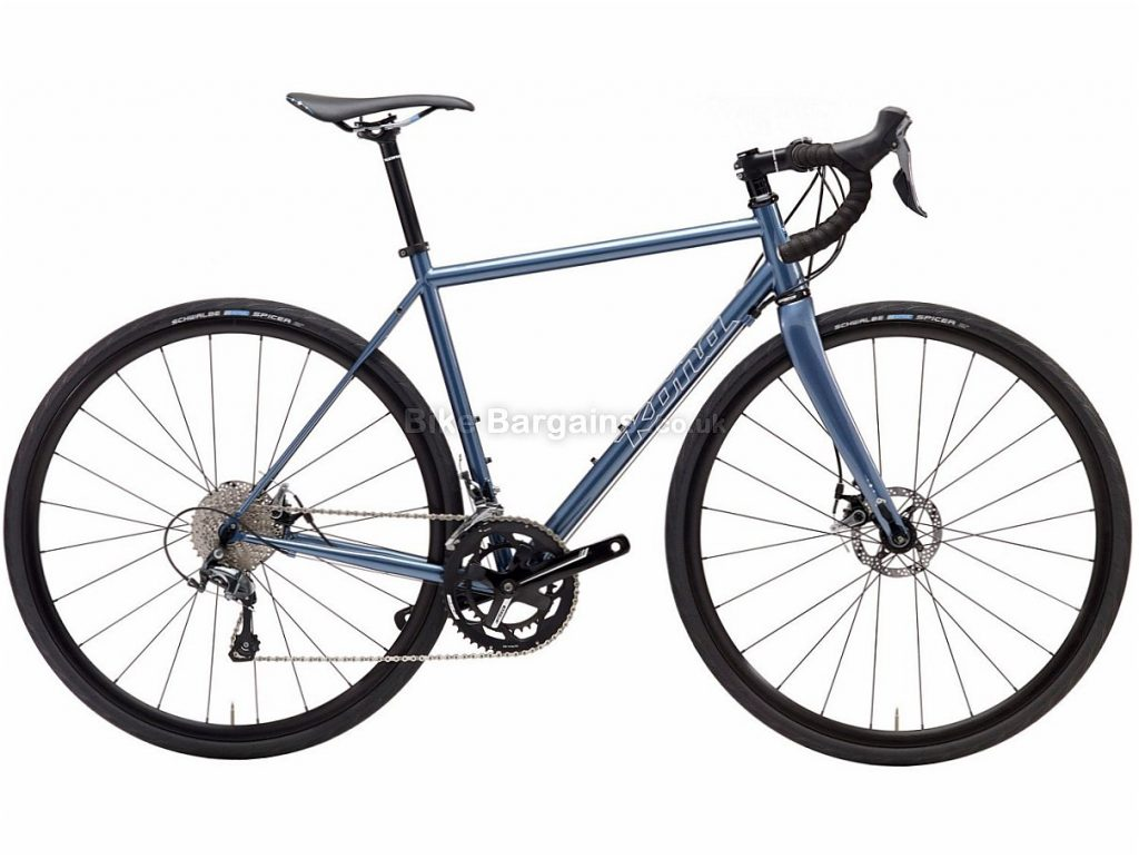 Kona Wheelhouse Disc Tiagra Steel Road Bike 2017 52cm, Blue, Steel, Disc, 10 speed, 700c