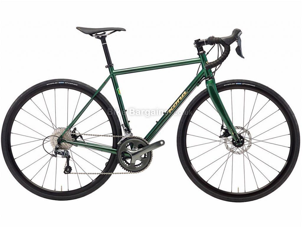 Kona Wheelhouse Disc Tiagra Steel Road Bike 2018 49cm, Green, Steel, Disc, 10 speed, 700c