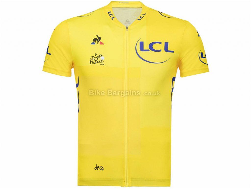 Le Coq Sportif Tour De France Replica Short Sleeve Jersey 2018 S, White, Short Sleeve