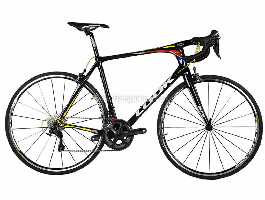 Look 675 Light Pro Team Ultegra Carbon Road Bike 2016 XL, Black, Red, Yellow, Carbon, 11 speed, Calipers, 700c