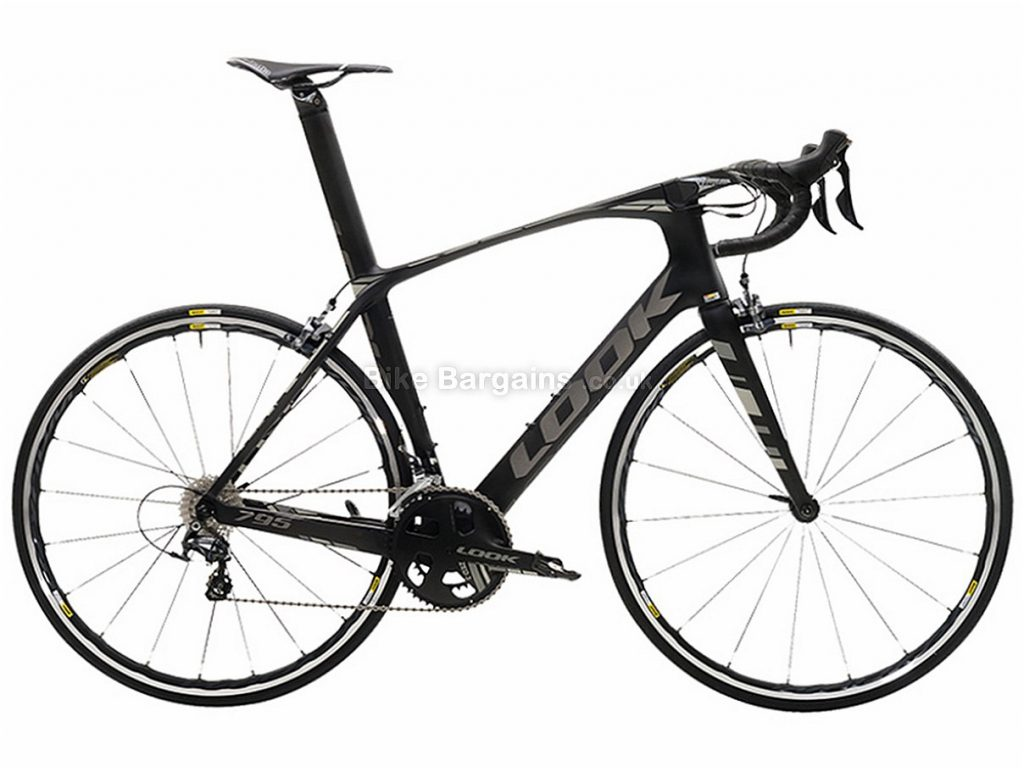 Look 795 Light Ultegra Di2 Carbon Road Bike 2017 M, Black, Grey, Carbon, 11 speed, Calipers, 700c