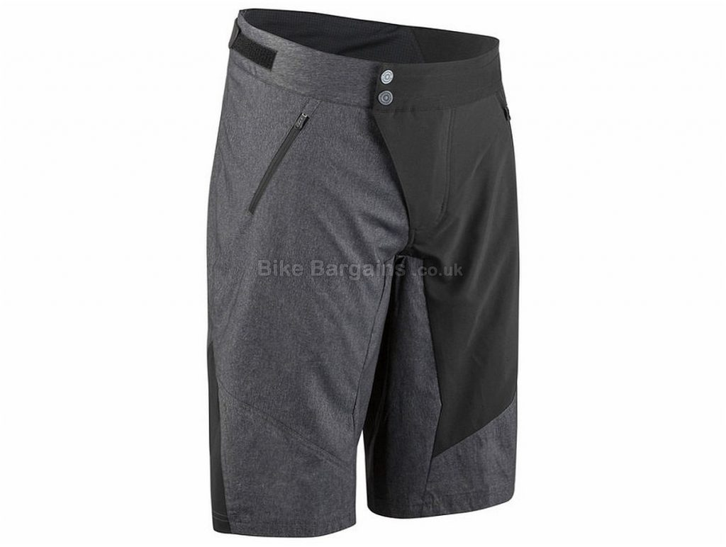 Louis Garneau Dirt Baggy Bib Shorts XL, Black, Grey