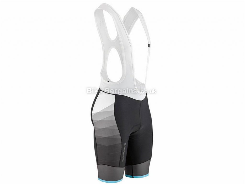 Louis Garneau Equipe Bib Shorts S, Black, Grey, White