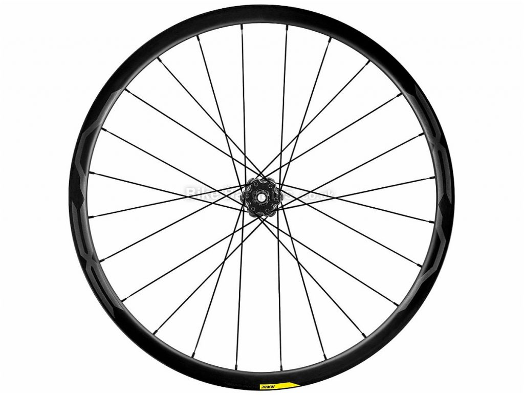 "Mavic Cosmic CXR 60 Clincher Front MTB Wheel 2017 27.5"", Black, 6 Bolt, Alloy, Carbon, QR, 820g"