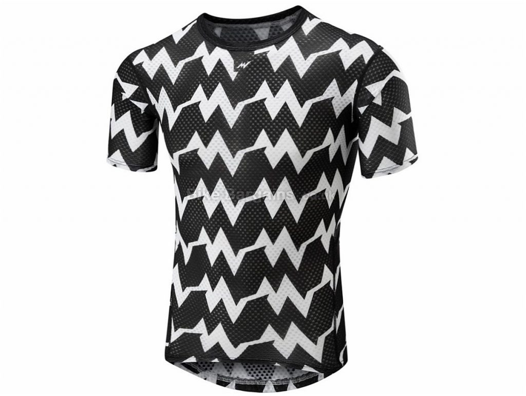 Morvelo Kuler Short Sleeve Base Layer XXL, Black, White, Grey