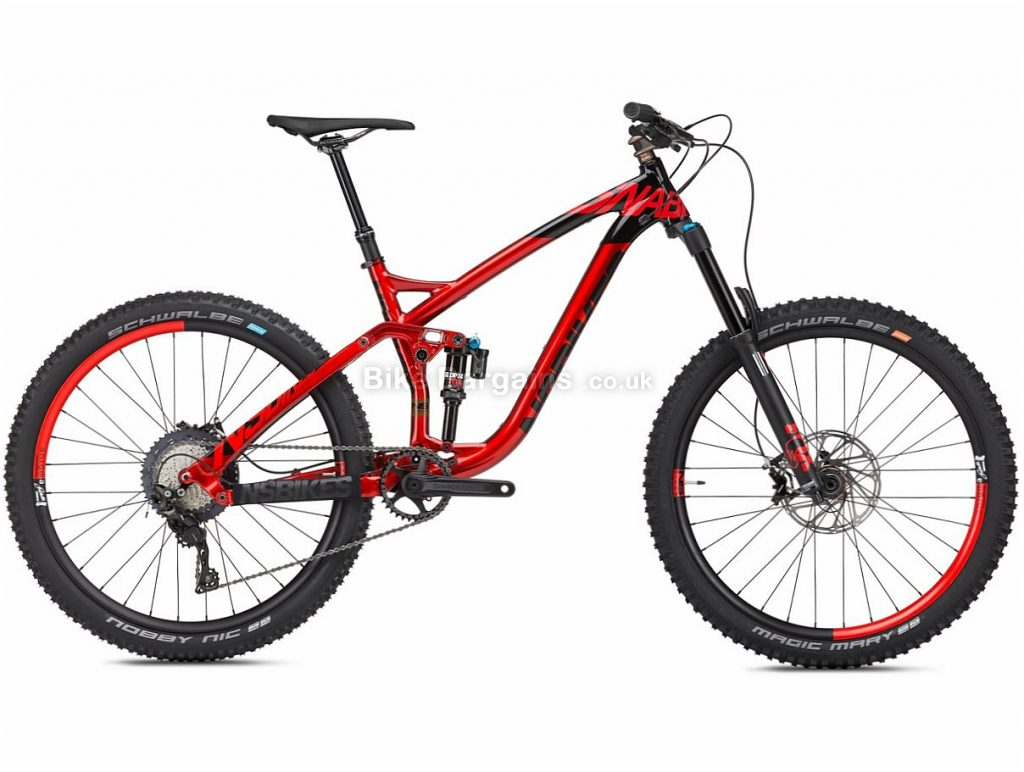 "NS Bikes Snabb 160 1 27.5"" SLX Alloy Full Suspension Mountain Bike 2018 17"", Red, Black, Alloy, 27.5"", 11 Speed, 13.8kg"