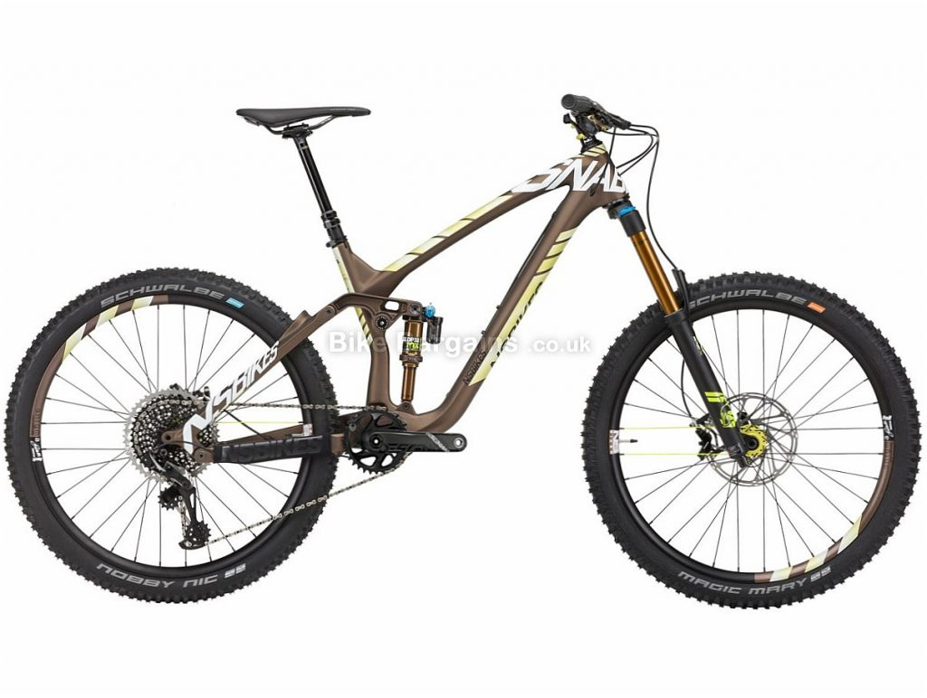 "NS Bikes Snabb 160 C1 27.5"" X01 Eagle Carbon Full Suspension Mountain Bike 2018 19"", Brown, Green, Carbon, 27.5"", 12 Speed, 12.9kg"