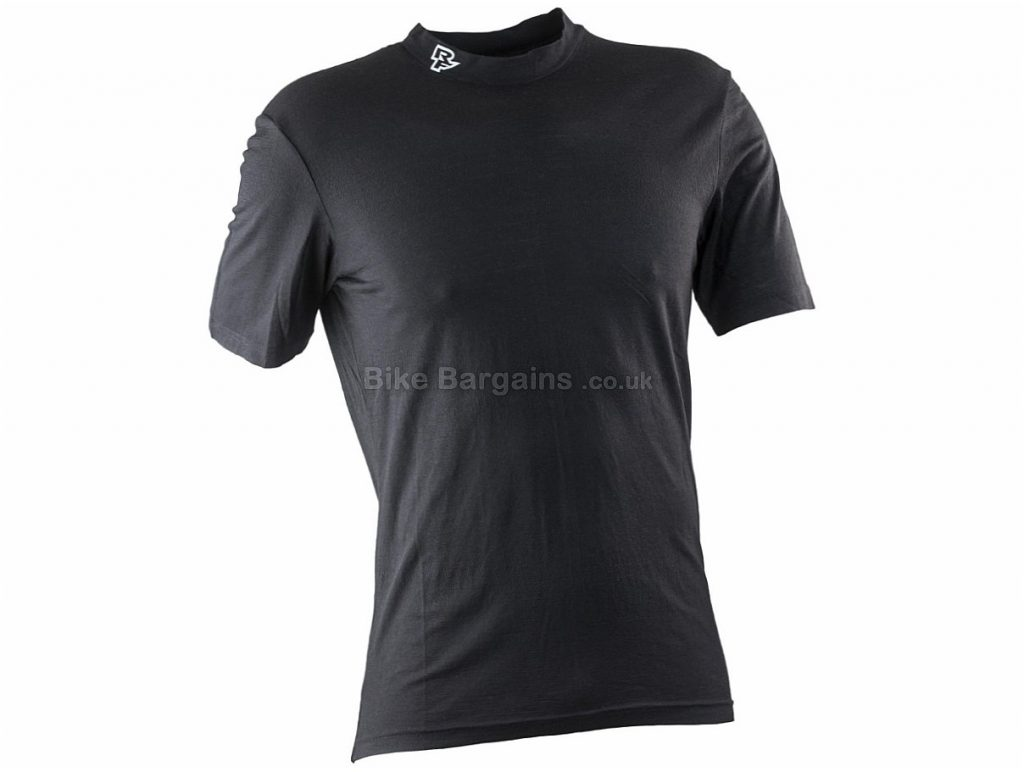 Race Face Stark Merino Short Sleeve Jersey XL, Black, Merino Wool