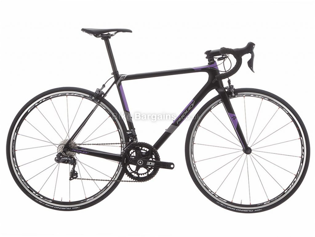 Ridley Aura SLX Ultegra Di2 Ladies Carbon Road Bike S, Black, Purple, Carbon, 11 speed, Calipers, 700c