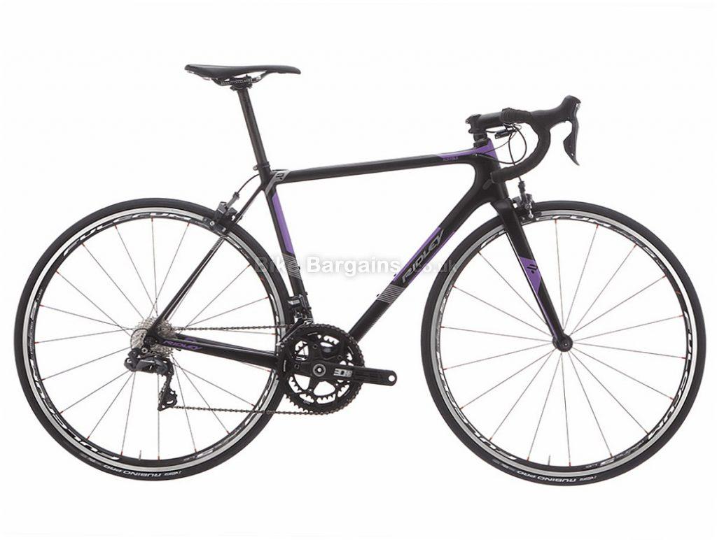 Ridley Aura SLX Ultegra Di2 Ladies Carbon Road Bike S, Black, Purple, Carbon, 11 speed, Calipers, 700c