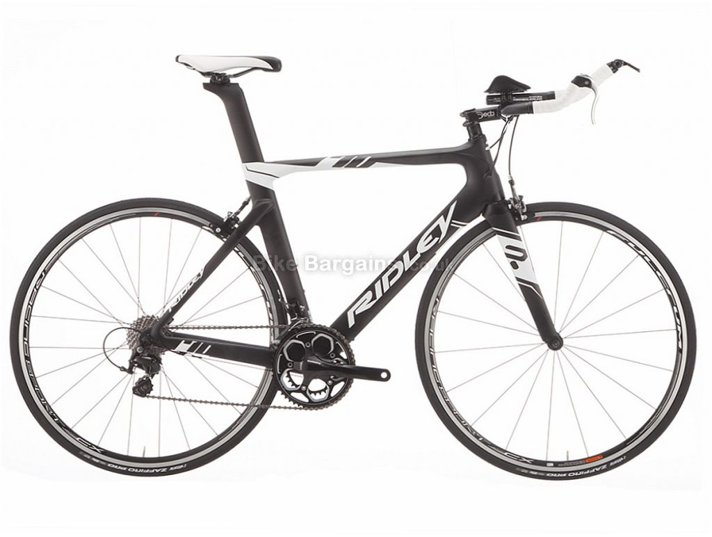 Ridley Chronus 105 Mix Carbon TT Tri Road Bike L, Black, White, Carbon, 11 speed, Calipers, 700c
