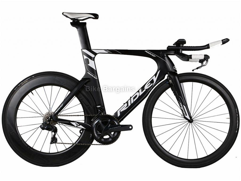 Ridley Dean Fast Ultegra Di2 Carbon TT Tri Road Bike S, Black, White, Carbon, 11 speed, Calipers, 700c