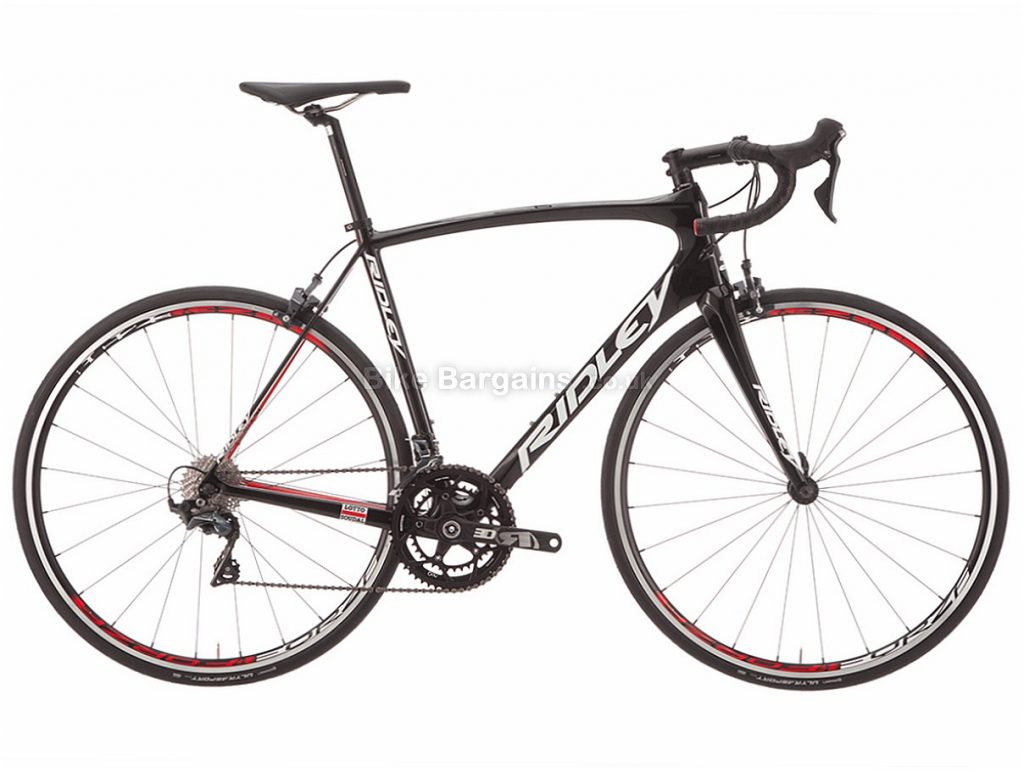 Ridley Fenix SL Ultegra R8000 Carbon Road Bike M, Black, Red, White, Carbon, 11 speed, Calipers, 700c