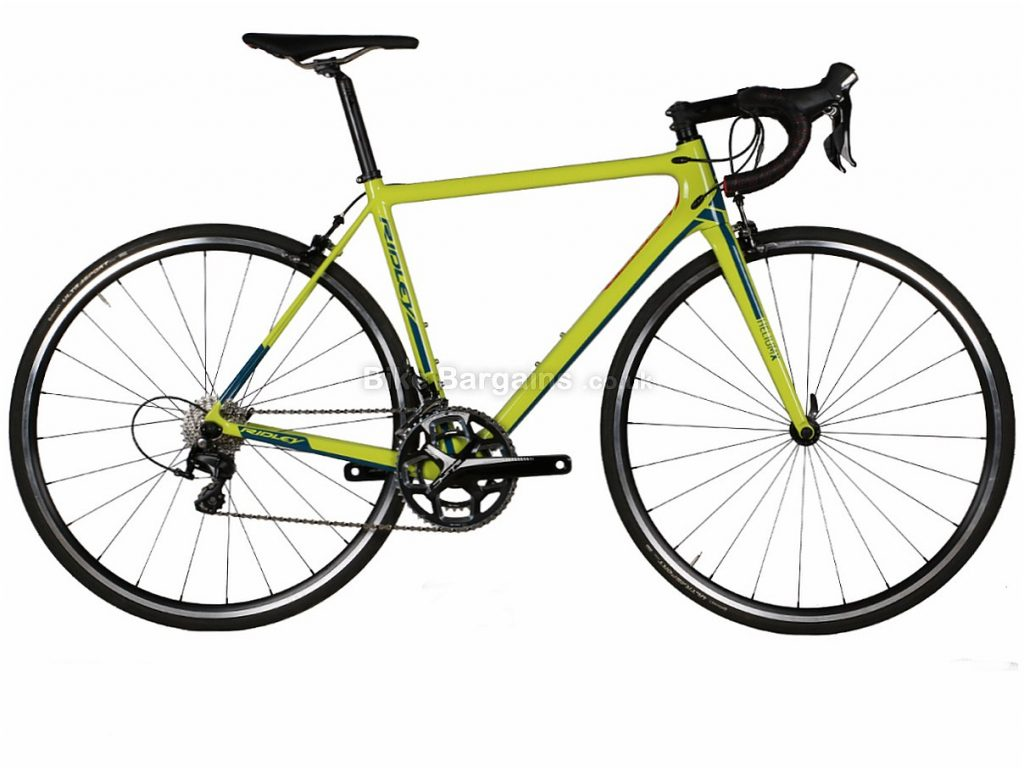 Ridley Helium X 105 Mix Carbon Road Bike S, Green, Carbon, 11 speed, Calipers, 700c