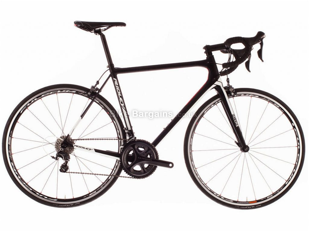 Ridley Helium X Ultegra Carbon Road Bike XXS, Black, White, Carbon, 11 speed, Calipers, 700c