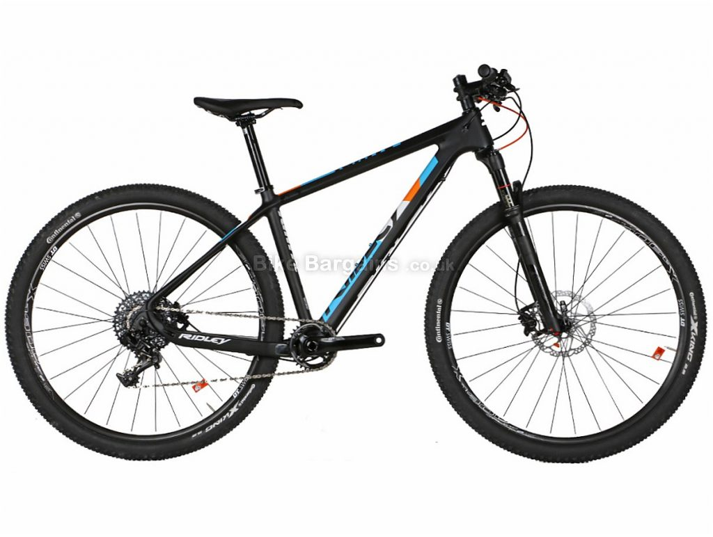 Ridley Ignite C29 GX1 29 Carbon Hardtail Mountain Bike M, Black, Blue, Orange, Hardtail, Carbon, 11 Speed