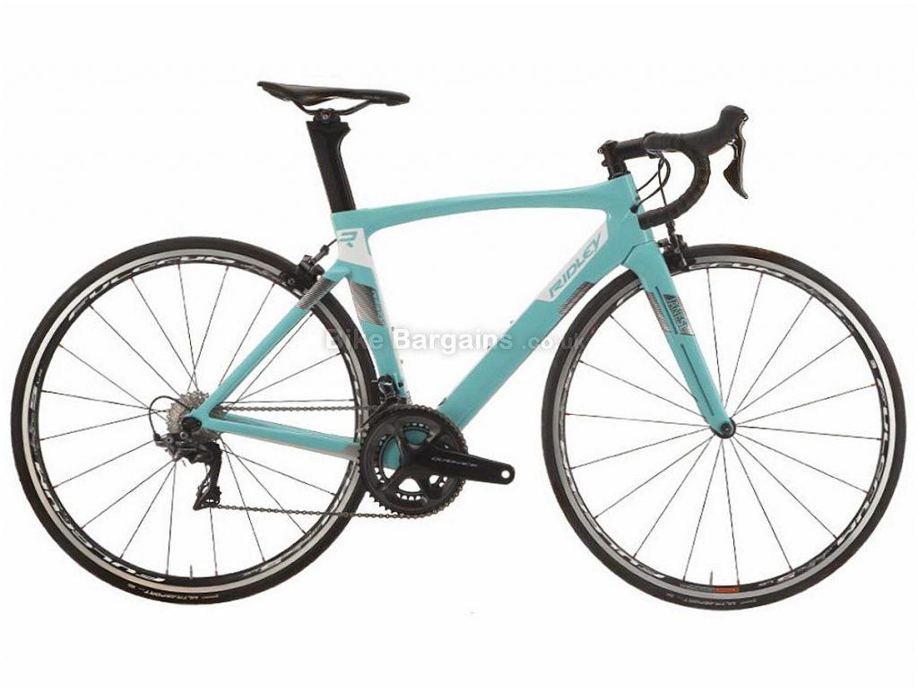 Ridley Jane SL Aero Ultegra Ladies Carbon Road Bike XXS, Pink, Turquoise, Carbon, 11 speed, Calipers, 700c