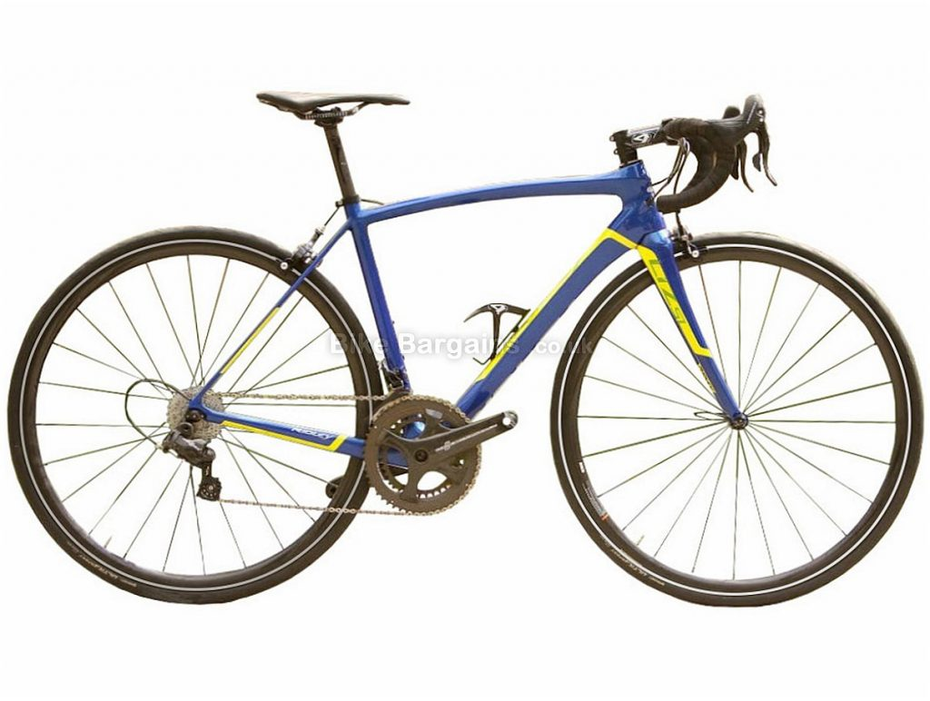 Ridley Liz SL Ultegra Ladies Carbon Road Bike L, Blue, Yellow, Carbon, 11 speed, Calipers, 700c