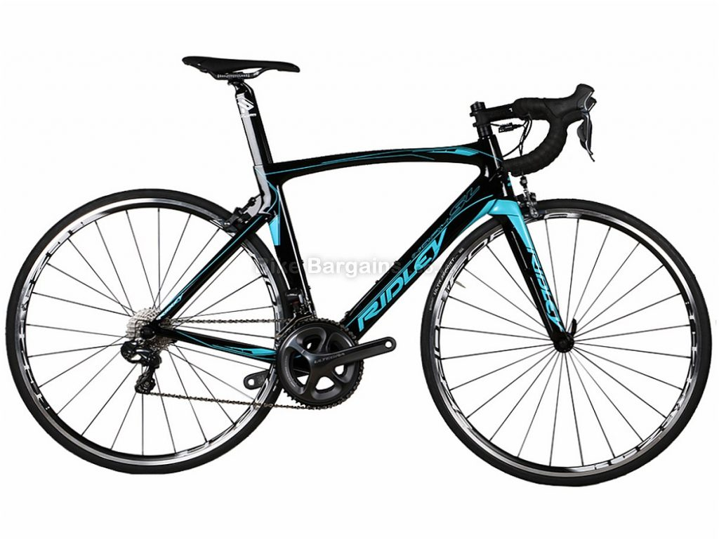 Ridley Noah SL Ultegra Di2 Carbon Road Bike XXS, Black, Blue, Red, Carbon, 11 speed, Calipers, 700c