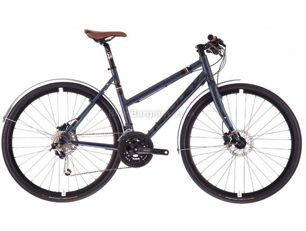 Ridley Tempo X Alivio Alloy Disc Ladies City Bike XS, Grey, Alloy, 700c, 27 speed, Disc, Hardtail