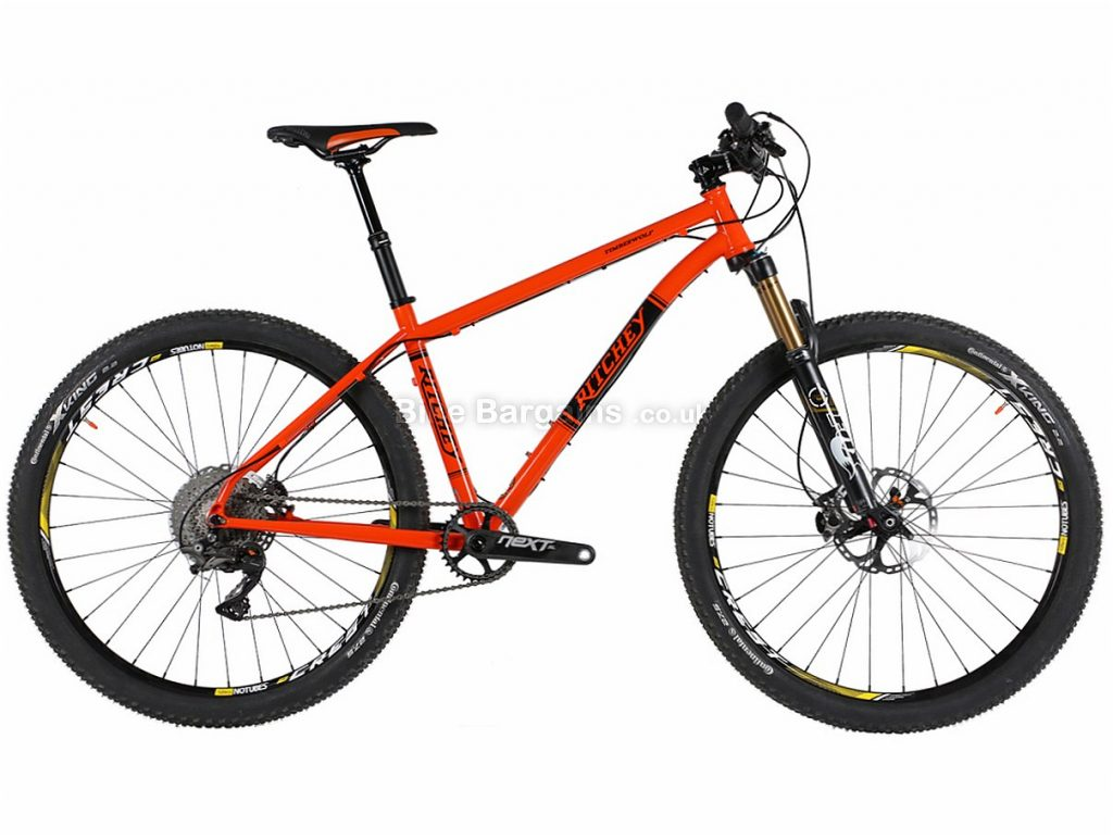 "Ritchey Timberwolf XTR 27.5 Steel Hardtail Mountain Bike 17"", Orange, Hardtail, Steel, 11 Speed"