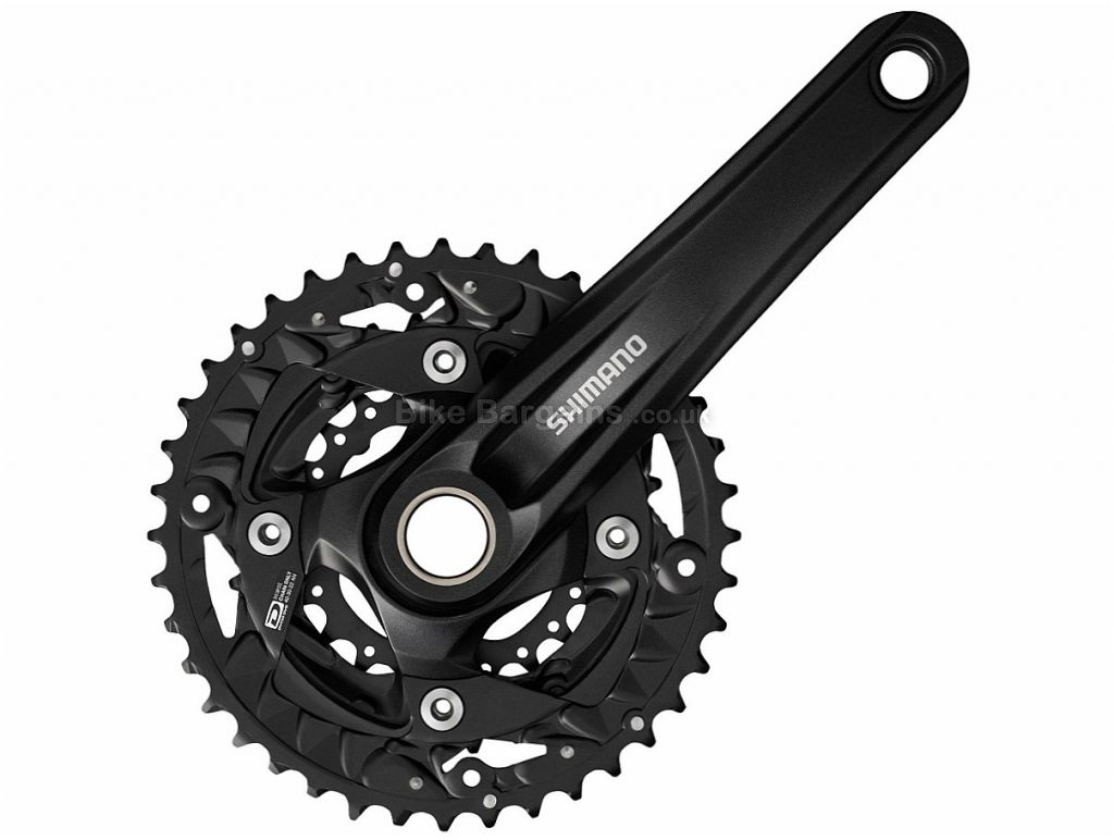 Shimano MT500 Alloy MTB Chainset 175mm, Black, Alloy, 10 speed, Triple Chainring, MTB, 828g
