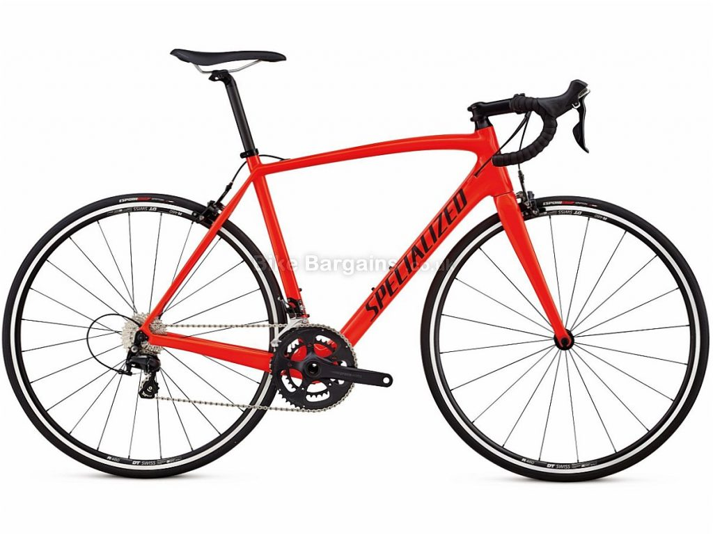 Specialized Tarmac Sl4 Sport 105 Carbon Road Bike 2018 56cm, Black, Red, Carbon, Calipers, 11 speed, 700c