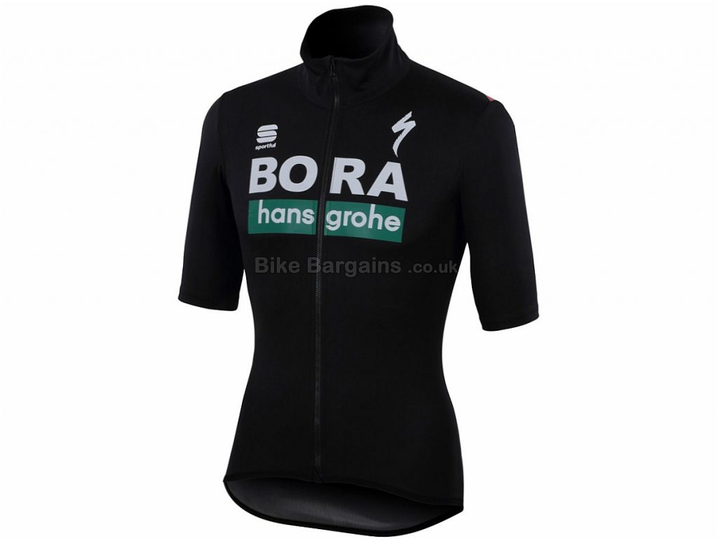 Sportful Fiandre Light Bora-Hansgrohe Short Sleeve Jersey 2018 L, Black, Short Sleeve