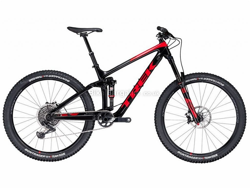 "Trek Remedy 9.9 Race Shop Limited 27.5 X01 Eagle Carbon Full Suspension Mountain Bike 2017 15"", Black, Red, Full Suspension, Carbon, 12 Speed"