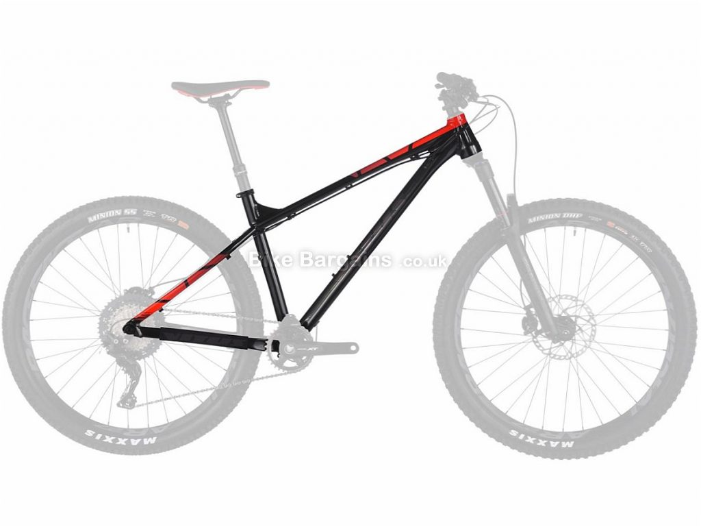 "Vitus Sentier VRX+ 27.5"" Alloy Hardtail Mountain Bike Frame 2018 15"", Black, Red, 27.5"", Alloy"