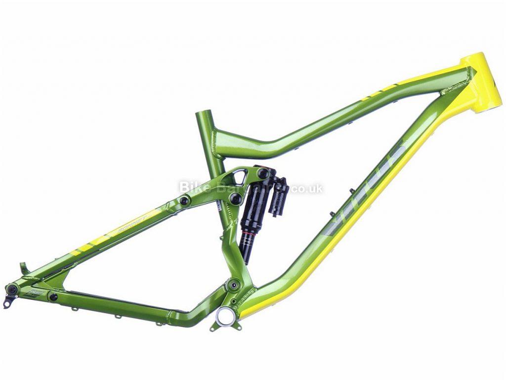"""Vitus Sommet VRS 27.5 Alloy Suspension MTB Frame 2018 20"""", Green, Yellow, Full Suspension, 27.5"""", Alloy"""