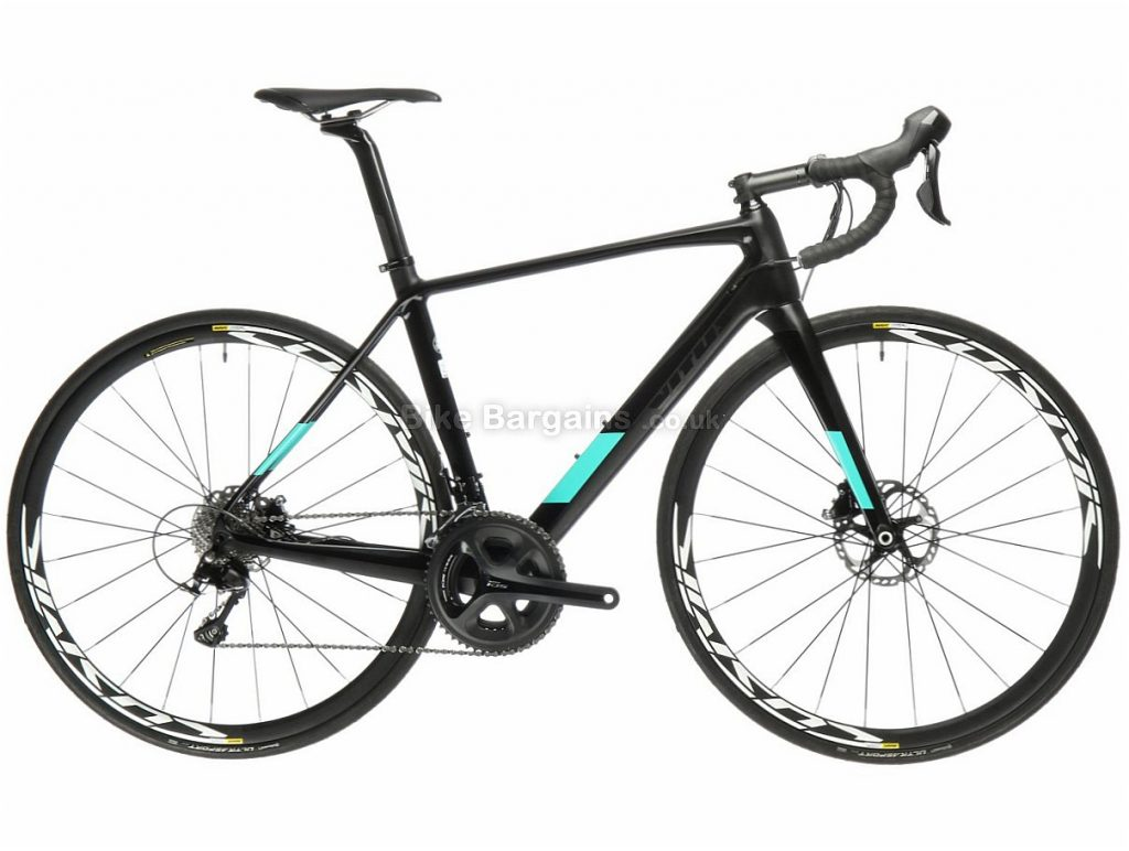 Vitus ZX1 Aero Disc 105 Carbon Road Bike 2018 54cm, Black, Green, Silver, Carbon, Disc, 11 speed, 700c, 8.68kg