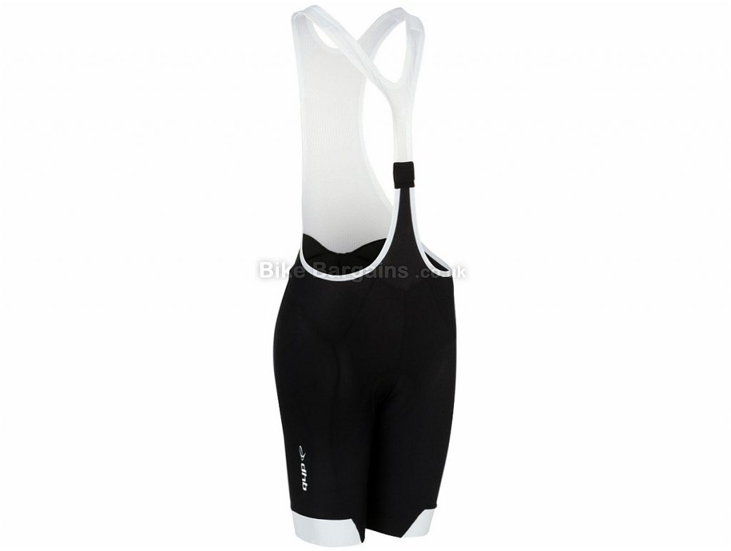 dhb Aeron Ladies Clip Bib Shorts 8, Black, White