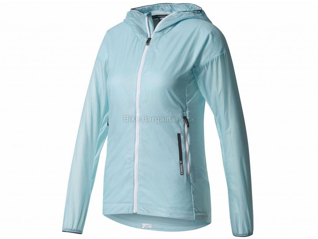 Adidas Ladies Agravic Alpha Hooded Shield Jacket 2017 8,10,12, Blue, Long Sleeve