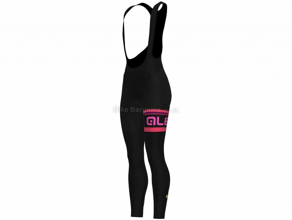 Ale Ladies Faded Stripe Bib Tights 2018 XL, Black, Pink