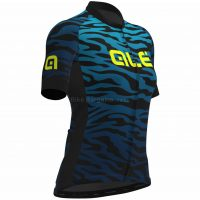 Ale Ladies Zebra Print Short Sleeve Jersey