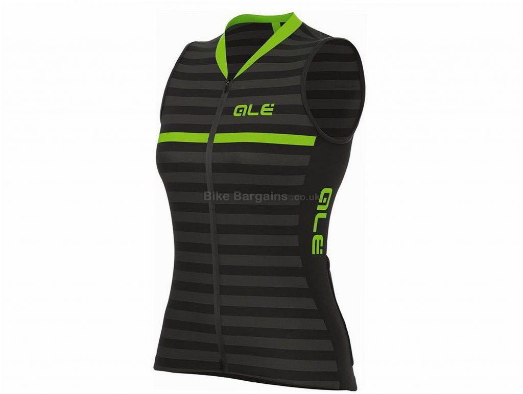 Ale Solid Surf Ladies Sleeveless Jersey 2018 L, Black, Green, Sleeveless