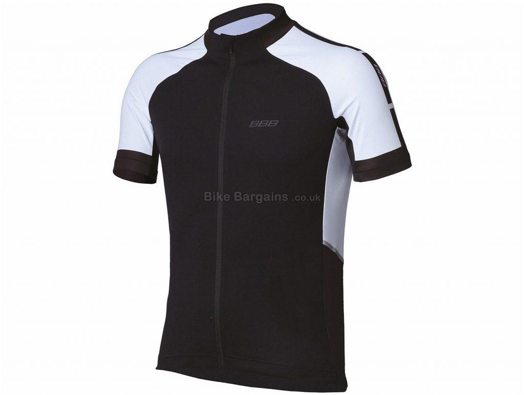 BBB ComfortFit Short Sleeve Jersey S, Black, White, Short Sleeve