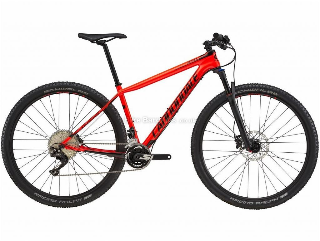 "Cannondale F-Si Carbon 5 29er Hardtail Mountain Bike 2018 L, Black, Red, Carbon, Hardtail, 29"", 22 Speed"
