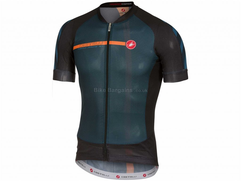 Castelli Aero Race 5.1 Short Sleeve Jersey XL, Black, Grey, Short Sleeve, 103g