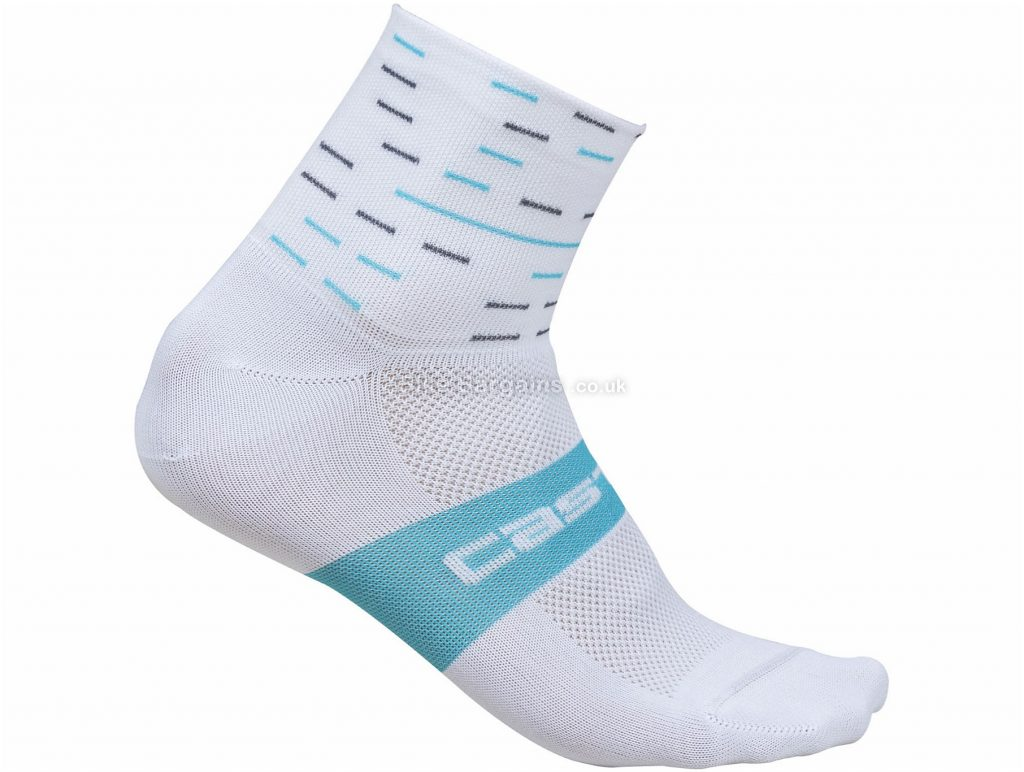 Castelli Ladies Team Sky Rosso Corsa Socks S,M, White, Blue