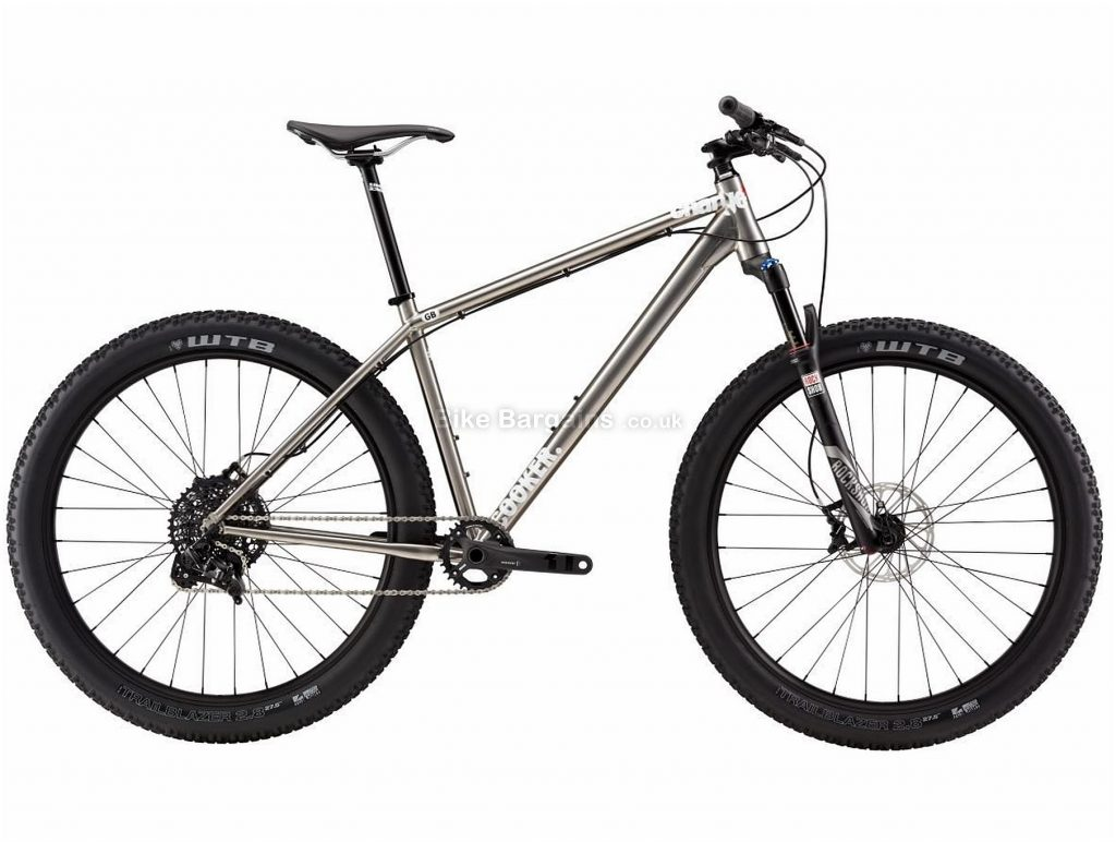 "Charge Cooker 5 27.5+ Titanium Hardtail Mountain Bike 2017 S, Silver, Titanium, Hardtail, 27.5"", 11 Speed"
