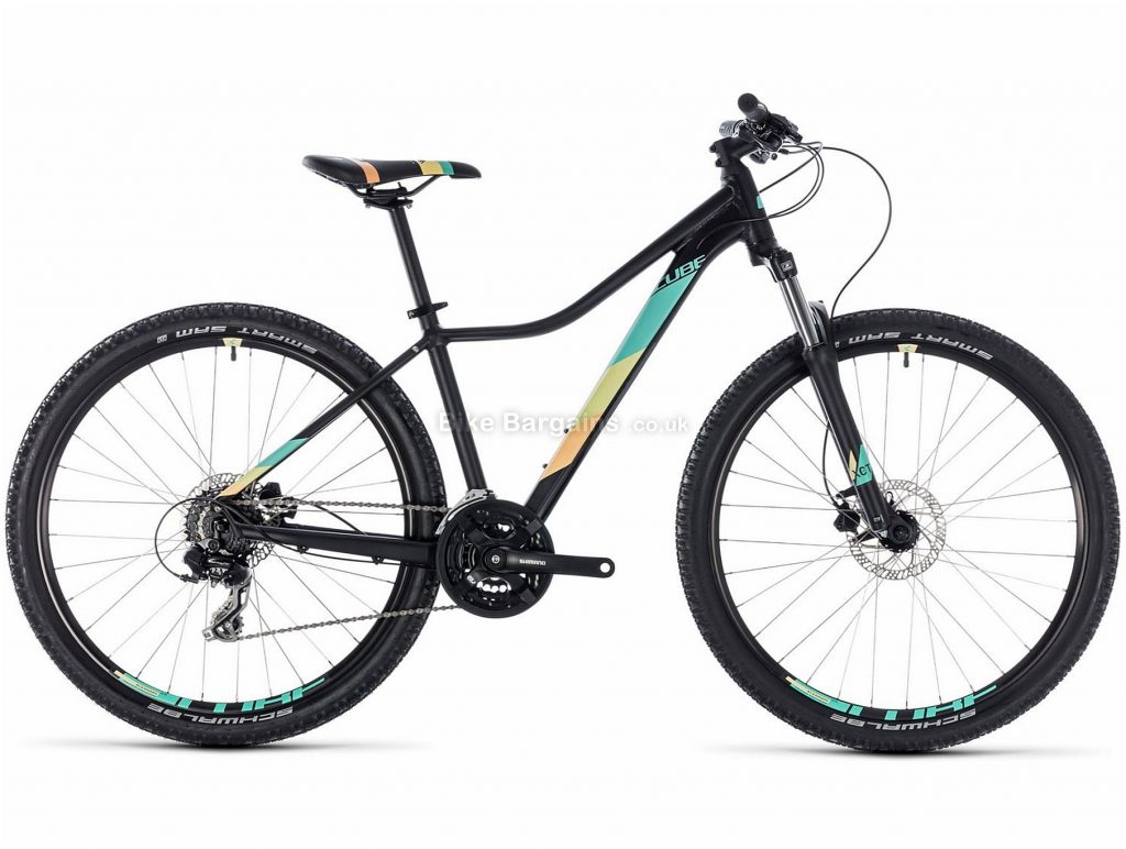 "Cube Access WS EAZ Ladies 27.5"" Alloy Hardtail Mountain Bike 2018 14"", 16"", White, Green, Black, Alloy, 27.5"", 14kg, 24 Speed, 100mm"
