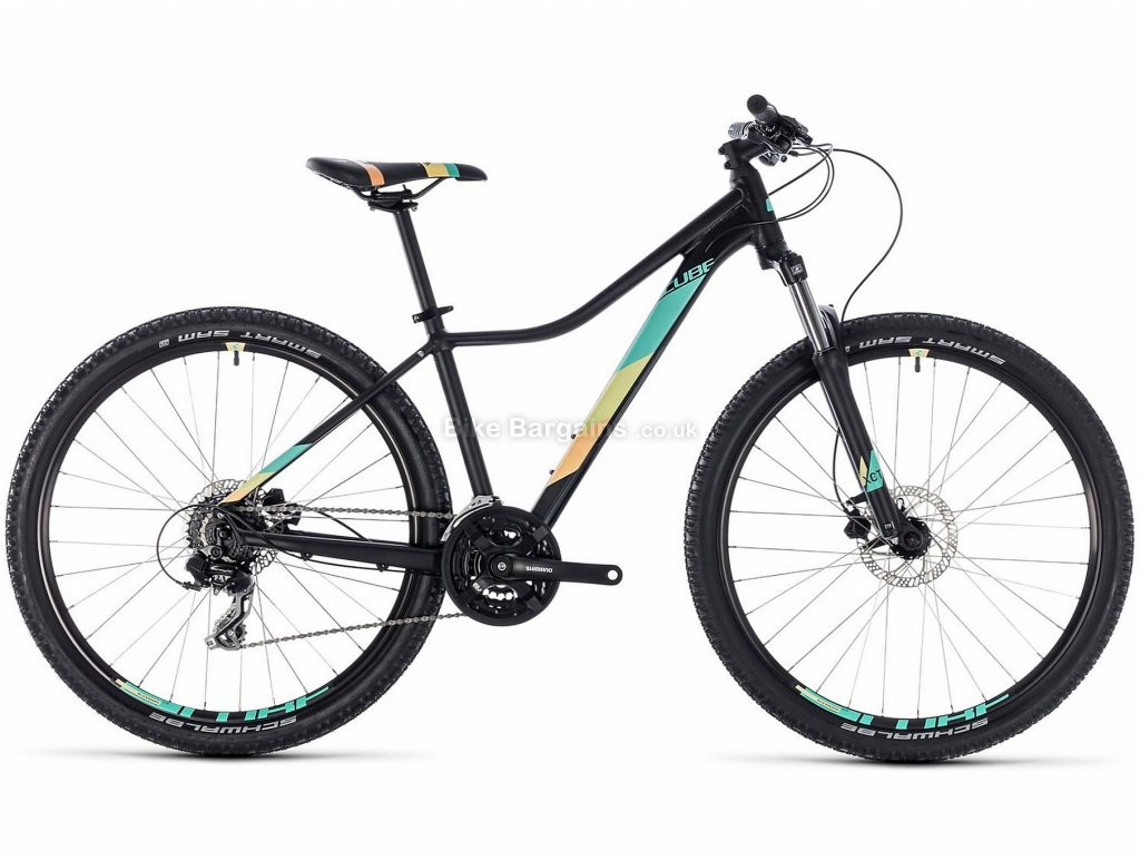 "Cube Access WS EAZ Ladies 29"" Alloy Hardtail Mountain Bike 2018 18"", White, Green, Black,, Alloy, 29"", 24 Speed, 100mm"