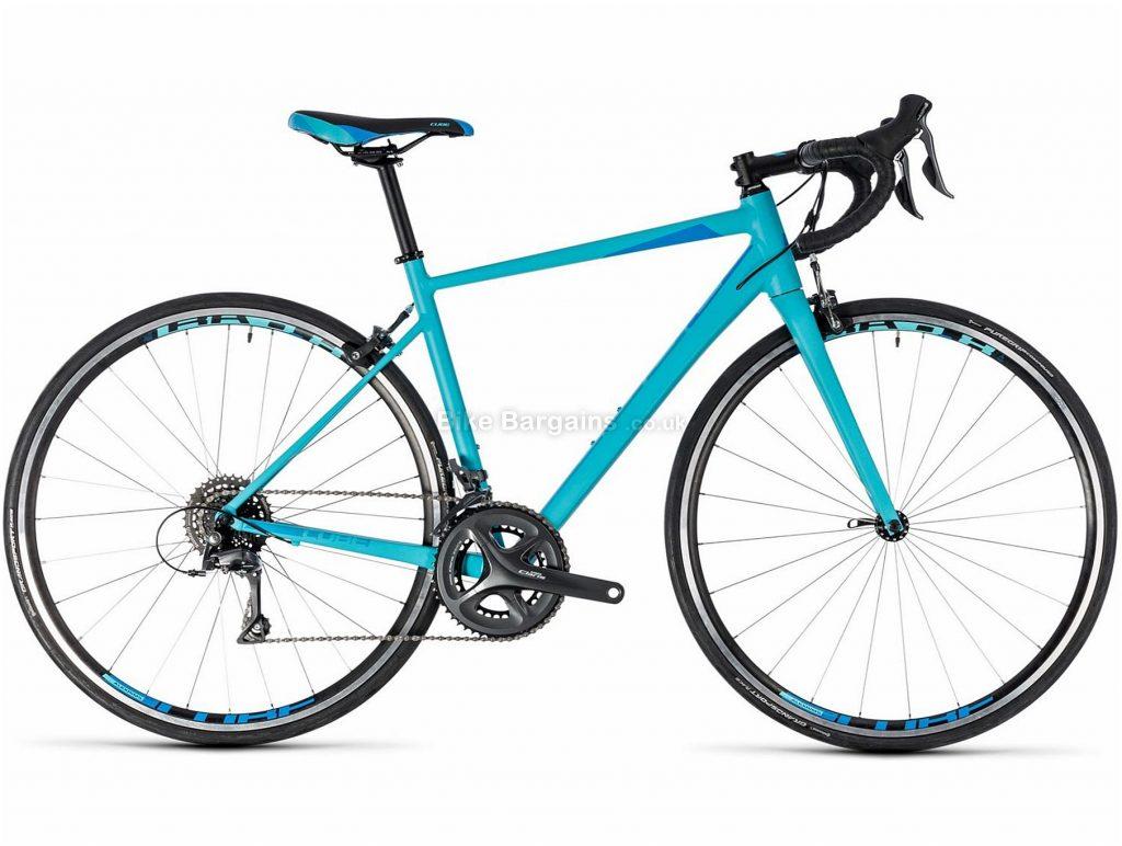 Cube Axial WS Alloy Claris Road Bike 2018 56cm, Blue, Alloy, Caliper Brakes, 16 speed, 700c, 9.4kg